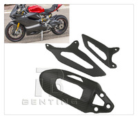 Motorcycle Matte Carbon Fibre Shock Cover For Ducati Panigale 899 959 1199 1299