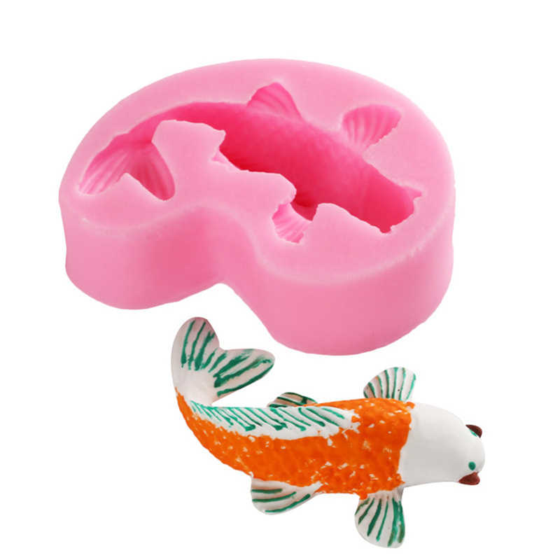 3D Cute Dog Goldfish Soap Silicone Candle Molds DIY Baking Fondant Cake Decorating Tools Jelly Candy Chocolate Gumpaste Mold