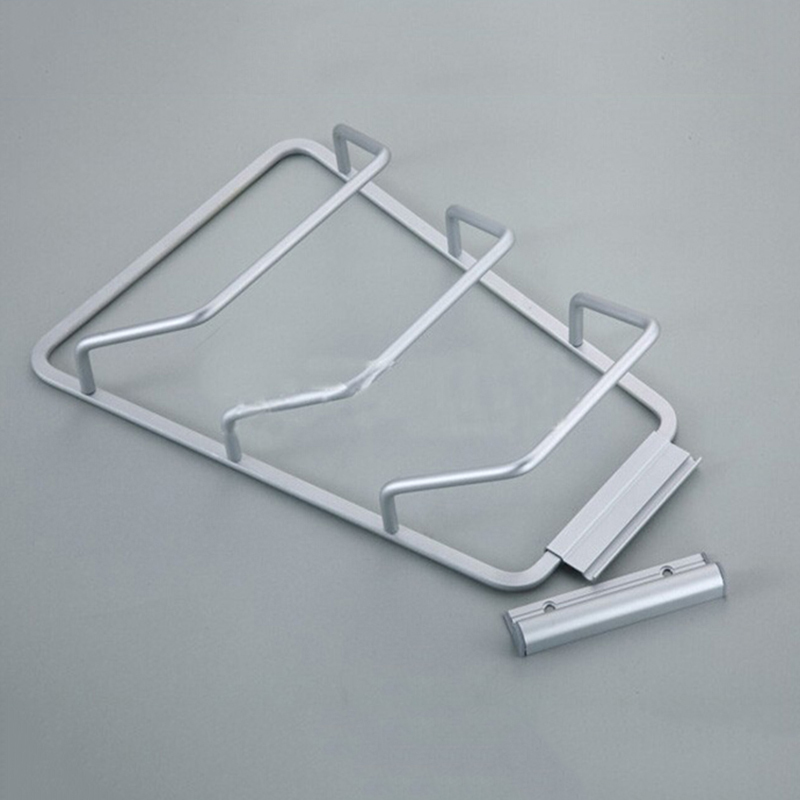 New 1 Pcs Aluminum Kitchen Cabinet Door Pot Pan Lid Holder Wall Mounted Rack Organizer Storage