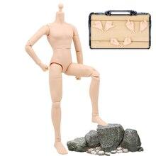 1/6 Escala Figura Muscular Músculo Do Corpo Semelhante Para Hot Toys Action Figure Boneca Brinquedos Modelo Soldado