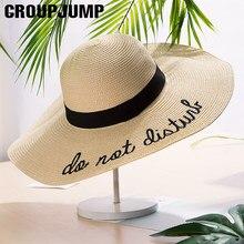GRUPO de SALTO 2018 Mulheres Verão Chapéu de Sol Senhoras Aba Larga chapéu  de Palha chapéus Fedora Mulheres Chapéus de Praia Car. a8578831abe