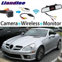 Liandlee 3in1 Wireless Receiver Mirror Monitor Special Rear View Camera For Mercedes Benz MB SLK350 SLK320 SLK300 SLK280 SLK230