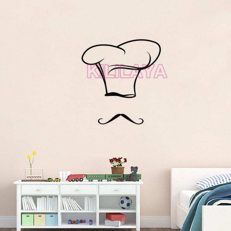 Stickers Cuisine Chef Vinyl Wall Sticker Mural Wall Decals Art ...