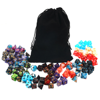 105 Pcs/Set Polyhedral Dice With Bag D4 D6 D8 D10 D10 D12 D20 Side For Cube Party Table Board Games Leisure Dice Toys