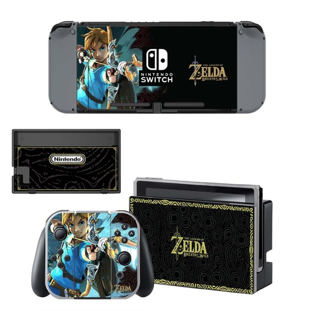 NS Game Skin Nintend Switch Console Sticker Vinyl Decal Skins Kit for Nintendo Switch Console and Controller