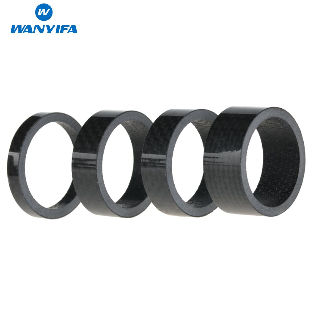 """4pcs Carbon Road MTB bicycle TT headset Spacer 1-1//8/"""" 10mm 5mm 3k glossy Cycling"""