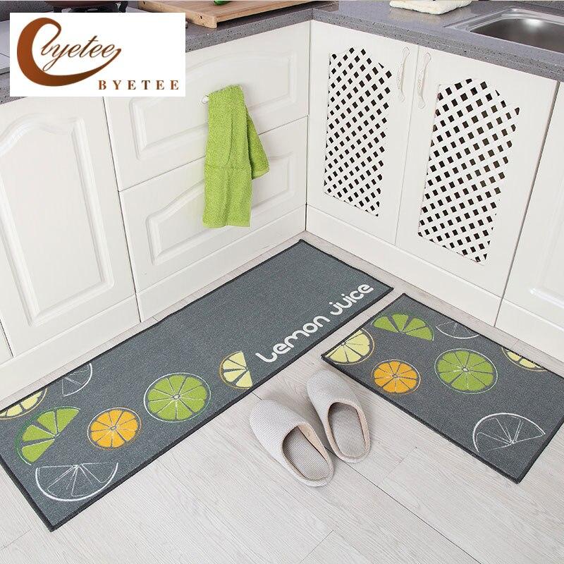 {Byetee} Porta Do Banheiro Tapete Tapetes de Cozinha de Venda Quente-Absorvente antiderrapante Capachos Esteira Da Cozinha Moderna