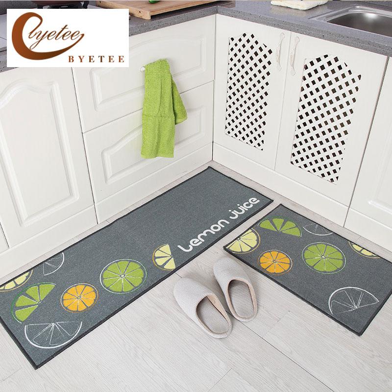 {Byetee} cuisine vente chaude tapis porte salle de bain tapis absorbant antidérapant paillassons moderne tapis de cuisine
