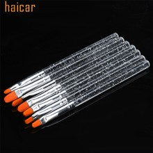 HAICAR Love Beauty Female 7pcs Transparent Nail Art Design Builder Salon Painting Brush Pen Set 160829 Drop Shipping(China)