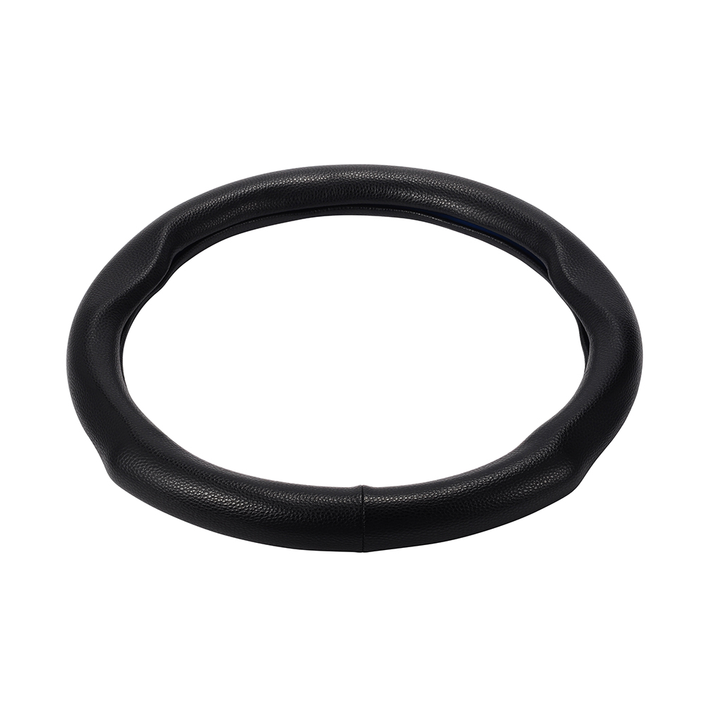 Pure Black Color Automobile Steering Wheel Cover M Size Steering Covers Genuine Leather Car Steering Cover