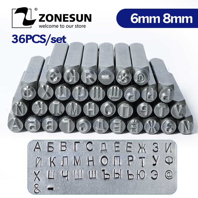 Stamps Numbers OR Letters Alphabet Set Punch Steel Metal Leather Tool Case Craft