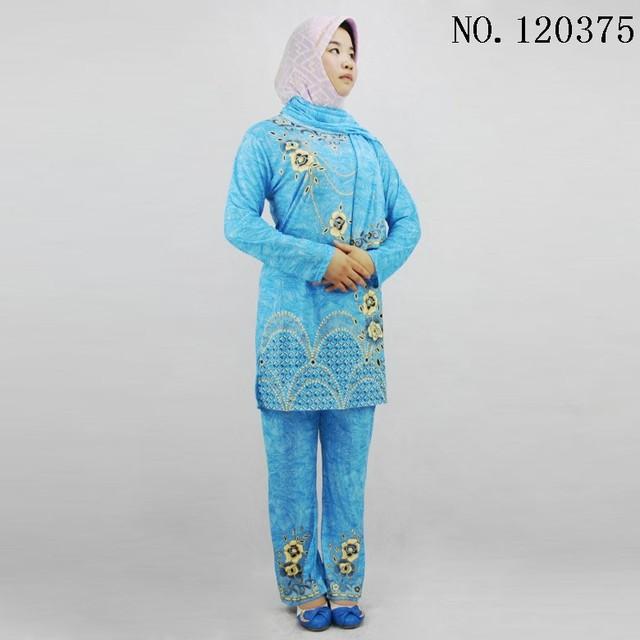 Ice silk pakistani dress long sleeve roupa indiana printing Pakistan clothing 3 pieces set wih scarf sari india