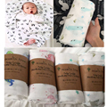 Newborn Muslin Swaddle Baby Multi-use Organic Bamboo Cotton Blanket Infant Parisarc XO/Cross Wrap