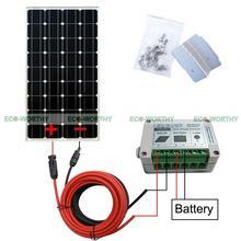 Hors Réseau Kit 100 W Mono Panneau Solaire avec 15A Contrôleur pour 12 V Chargeur de Batterie