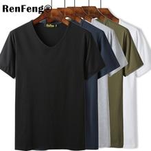 Di alta Qualità O Collo A V In Bianco Nero di Cotone T Shirt Di Base Delle Donne di Pianura Semplice T Shirt Per Gli Uomini Manica Corta Freddo magliette e camicette Hip hop Magliette