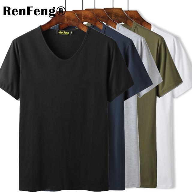 24c4cd57906 High Quality O V Neck Blank Black Cotton Basic T-shirt Women Plain Simple T  Shirt For Men Short Sleeve Cool Tops Hip hop Tees