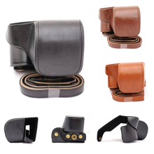 Buy Shoulder Strap PU Leather Digital Camera Bag Designed Shoulder Bag Protective Case Cover for Camera Sony A6000