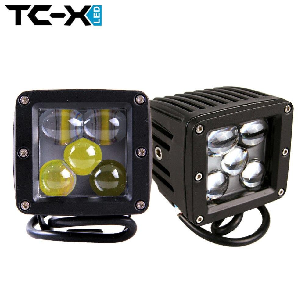 TC X 2PCS 5D 25W LED Spot font b Light b font Ultra Long Distance 24V