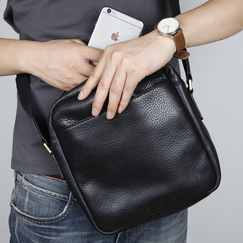 LANSPACE genuine leather men bag famous brand crossbody bag fashion shoulder bags lanspace men s leather shoulder bags leisure crossbody bag fashion leather men bag