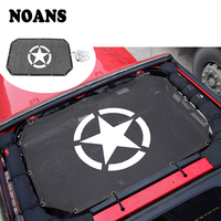 NOANS Styling Black Ceiling Shade Net Screens Decorative Stickers Frame Protector For Jeep Wrangler JK 2007 2017 Accessories
