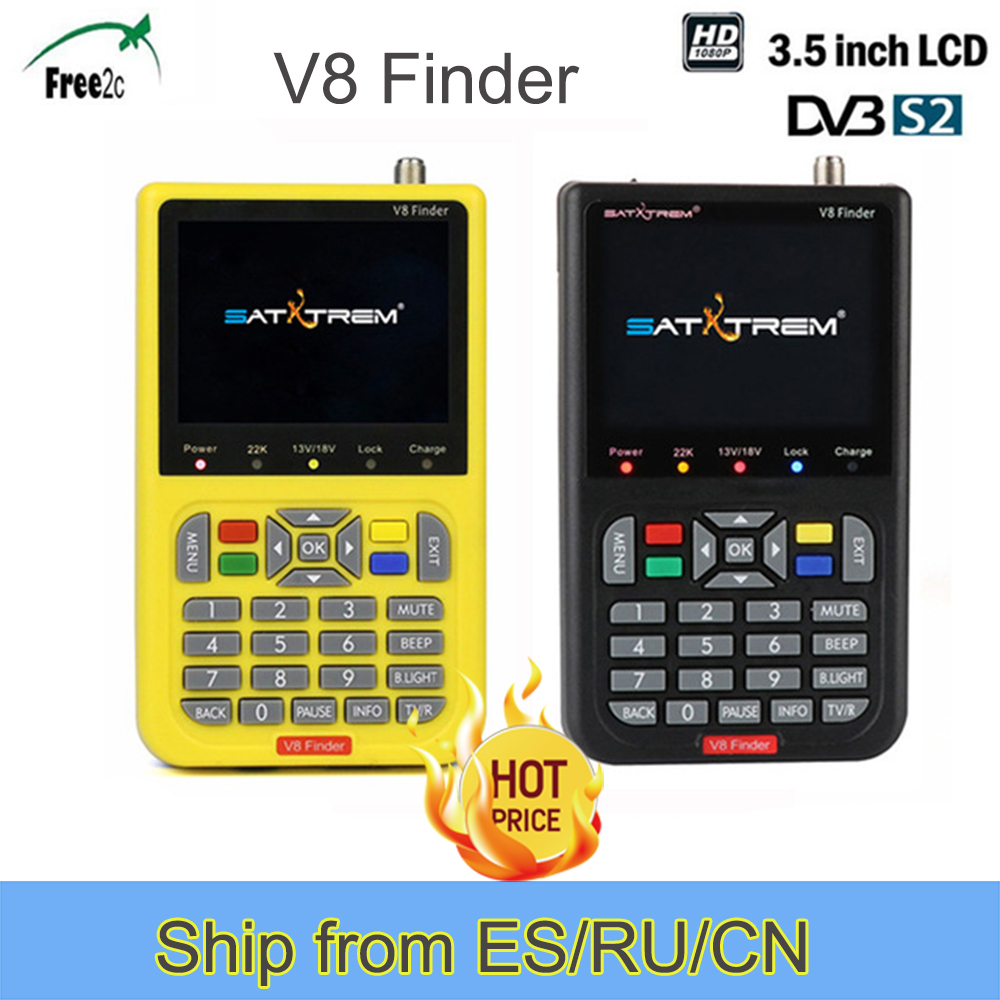 DVB S2 V8 Finder HD Digital Satellite Finder W SatFinder MPEG2 MPEG4 with 3000mA Battery FTA