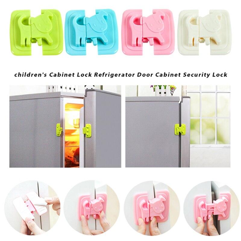 Замок холодильника Детская безопасность замок блокирующий замок для шкафа 4 цвета шкаф шкафы дома многофункциональный шкаф для младенцев