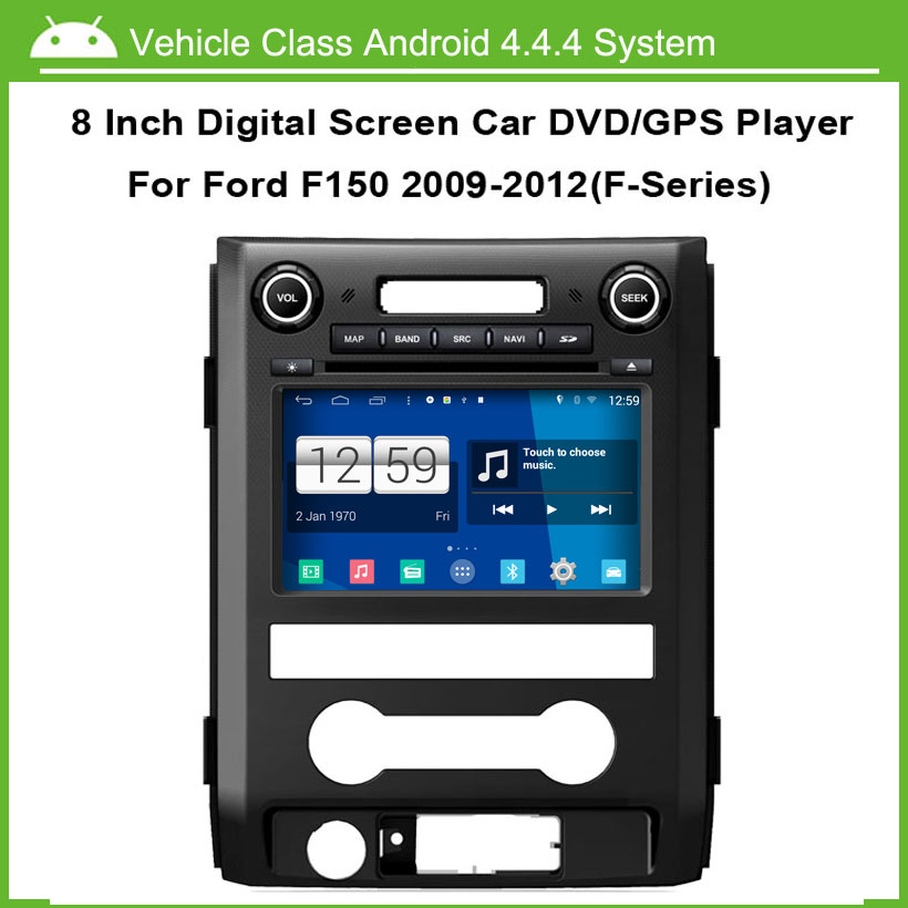Android Car DVD Player For Ford F150 2009-2012 GPS Navigation Multi-touch Capacitive screen,1024*600 high resolution