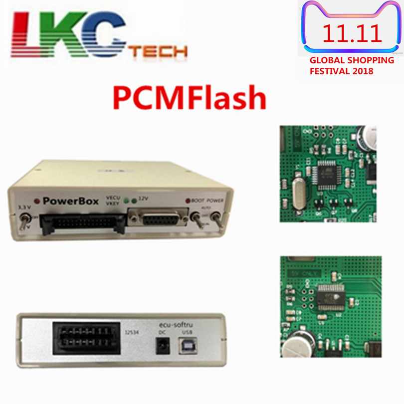Newest PowerBox PCMFlash for Engine/ computer board ECU programmer for gearbox power upgrade automotive engine computer board 28089659 lf479q1 3612100a ecu genuine