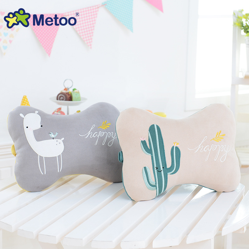 Sofa Cushions Neck Bone Pillow Plush Stuffed Animal Cartoon Kids Toys for Girls Children Baby Birthday Christmas Metoo Doll baby anti rollover safety seat portable waist stool children small sofa cartoon plush nursing feeding pillow learn to sit sofa