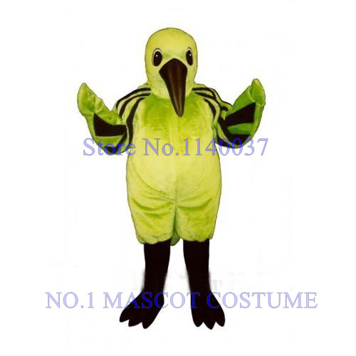 No.1 MASCOT Cute Green Hummingbird Mascot Costume ADULT SIZE Cartoon Character Anime cosplay costumes carnival fancy dress