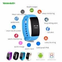 Оригинальный B14 SmartBand Приборы для измерения артериального давления Bluetooth Smart Браслет сердечного ритма Мониторы смарт-браслет Фитнес для Android IOS Телефон