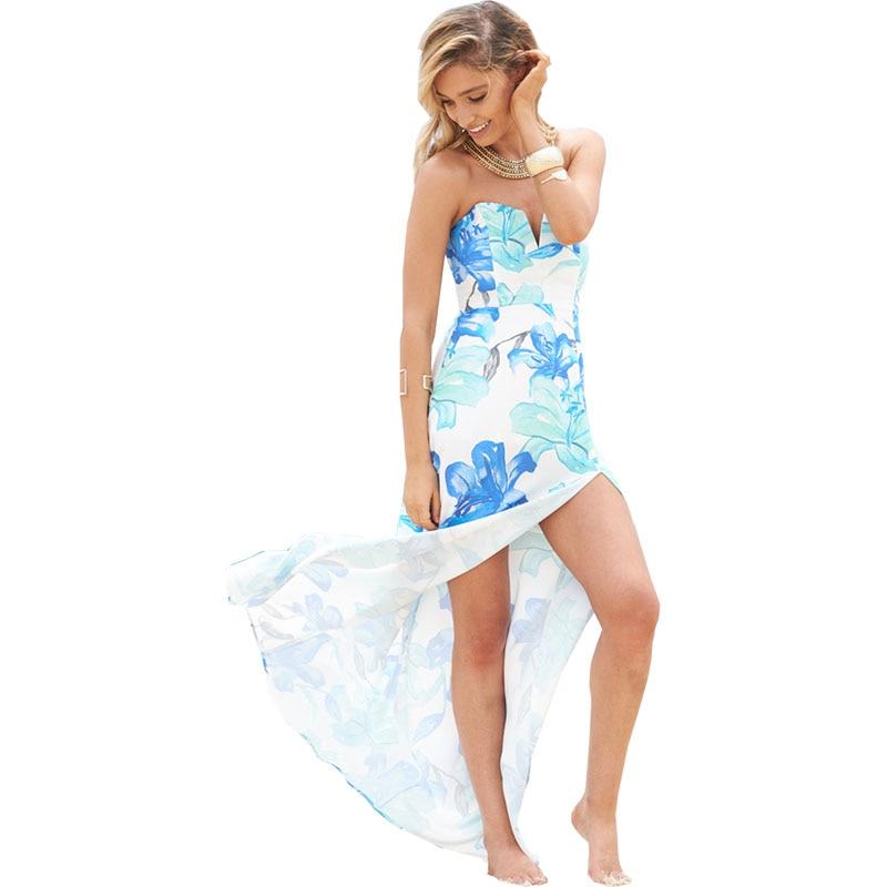 2018 nouvelles femmes d'été ouvert fourche bretelles robe sans manches dos nu cheville-longueur sexy beach party casual femmes robes longues 2410