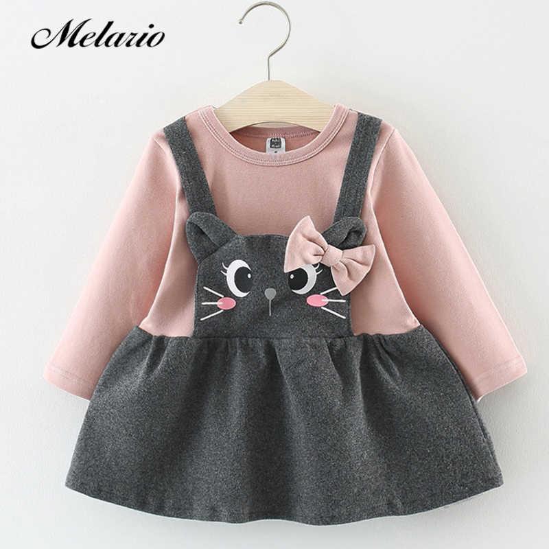 f756354a2 2019 Autumn Winter Baby girls clothes long sleeve princess girls dress Ball  of yarn Kids Clothes Children Party princess dresses
