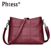 Women Messenger Bags Small High Quality Pu Leather Fabric Bags Red Female Tote Crossbody Bag For