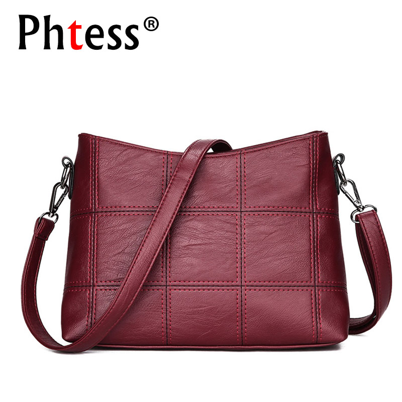 цены Women Messenger Bags Small High Quality Pu Leather plaid Bags Red Female Tote Crossbody Bag For Women Bag Shoulder Sac a Main