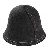 2017 חדשה באיכות גבוהה קוריאני סגנון וינטג 'חמים כובע דלי מגבעות לבד כובעי נשים החורף שחורים Pathwork צבע כובע מגבעת צמר אמיתי