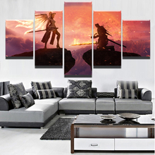 Modern Wall Art Canvas HD Print Poster 5 Pieces Crossover Dark Souls Mercy Overwatch Sword Angel Warrior Painting Home Decor