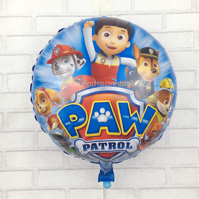 XXPWJ Free Shipping 1pcs/lot Dogs Patrol Globos Foil Balloons Kids Toys Birthday