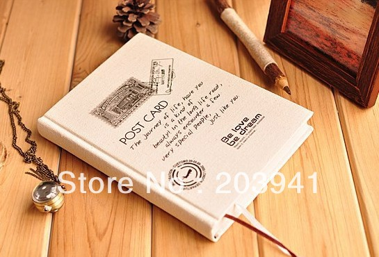 2pcs/lot Novelty items32k post design Linen note book School notebook paper Journals excellent quality Wholesale 140 page note paper creative fruit design