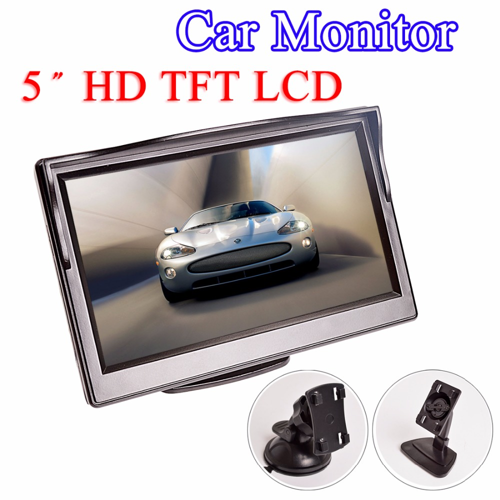 Hippcron VCD Screen Car-Monitor Digital Rear-View-Camera Video-Input Reverse 5inch DVD