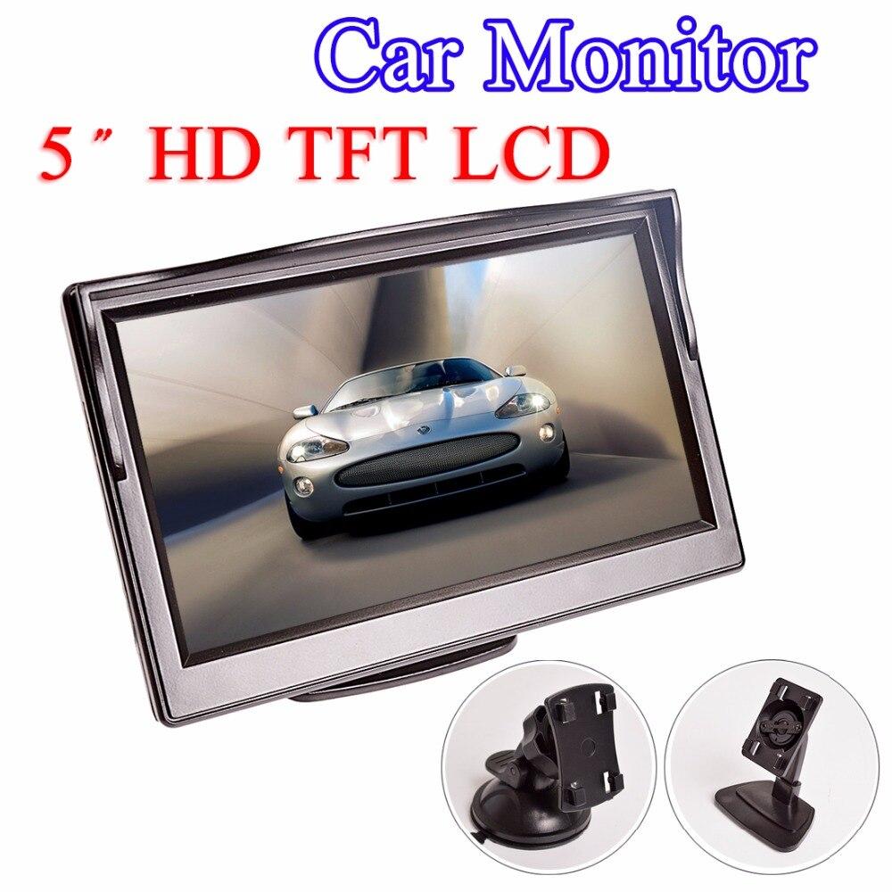 Monitor de coche de 5 pulgadas TFT LCD 5 HD Digital 16:9 480*800 Pantalla de 2 vías de entrada de vídeo para cámara de visión trasera inversa DVD VCD