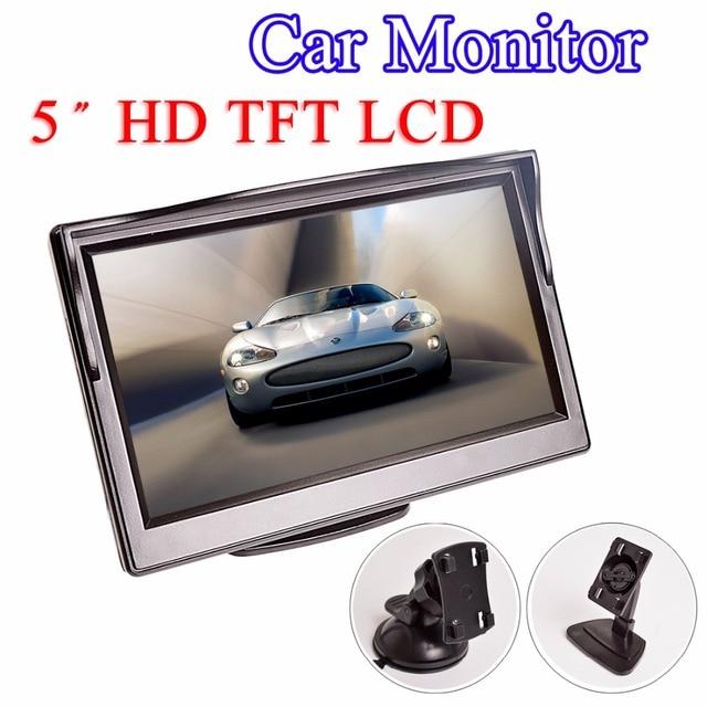 """Monitor de coche de 5 pulgadas TFT LCD 5 """"HD Digital 16:9 480*800 Pantalla de 2 vías de entrada de vídeo para cámara de visión trasera inversa DVD VCD"""