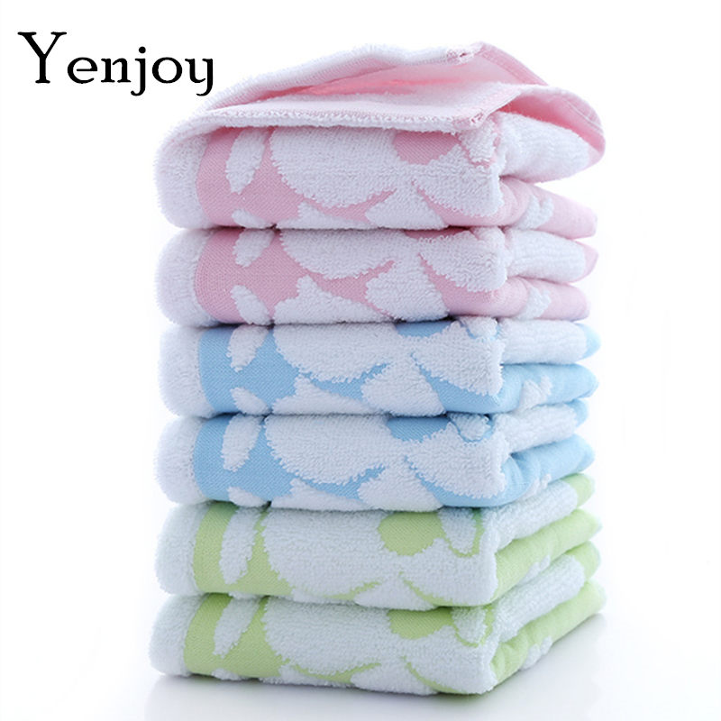 Hot New Kids Washcloth Double Layer Face Towels Baby Cotton Hand Towel Cute Cartoon Wipe For Children duck Long sofe face towel