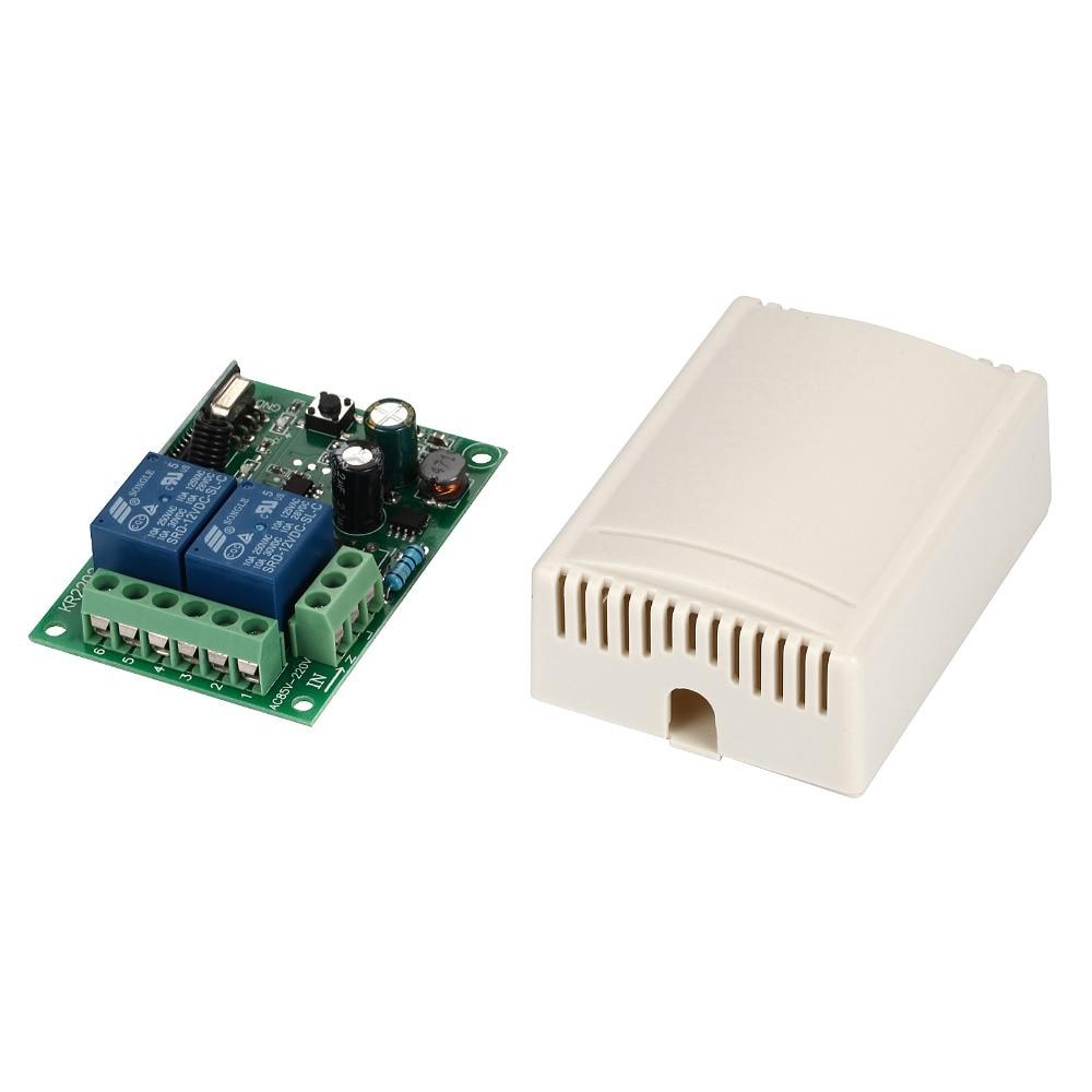 Image 2 - 433 МГц универсальный пульт дистанционного управления 220 В 2CH код 1527 передатчик пульт дистанционного управления RF релейный приемник для светового переключателя-in Пульты ДУ from Бытовая электроника