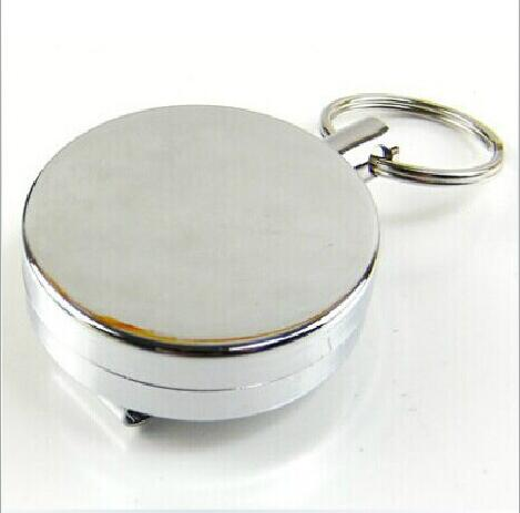 50 PCS Stainless Steel Retractable Key Chain Recoil Key Ring Heavy Duty Steel 60cm stainless steel