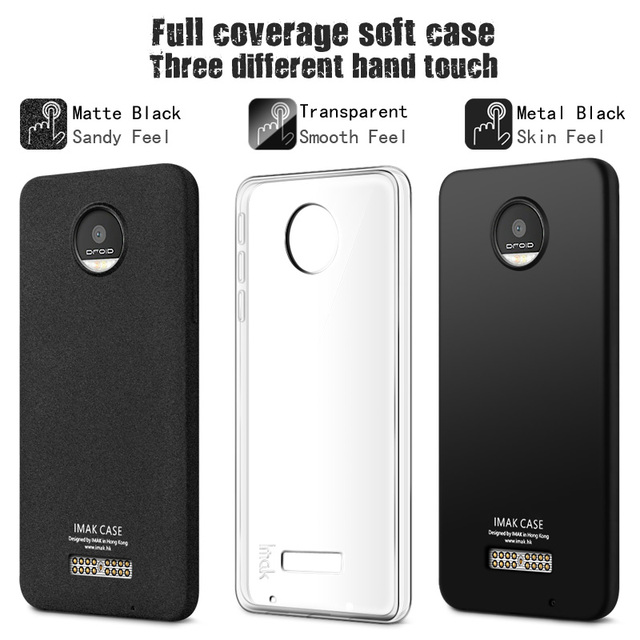 online store d6ee3 0f530 US $6.49 |IMAK Surrounded Protection Back Cover Case for Moto Z Force Droid  Soft TPU Full Coverage Matte Clear Cases for Moto Z Force-in Fitted Cases  ...