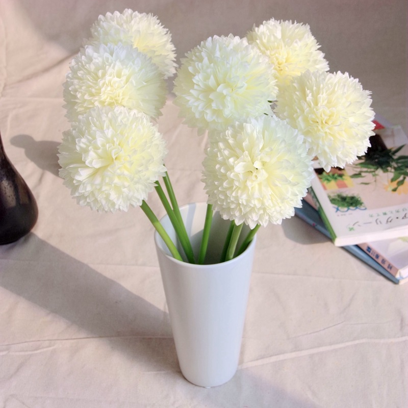 Real touch hydrangea artificial flowers home decor silk for Real plants for home decor