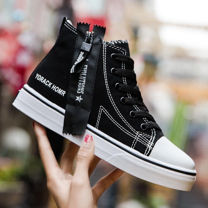 Fashion Off Black White Women Men Low Cut High Top Canvas Shoes Sneakers Sports Shoes Eur Size 35 44