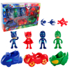 Pj Cartoon Mask Characters 4 Figures 3 Arms 3 Cars Catboy Owlette Gekko Kids Gift Toy