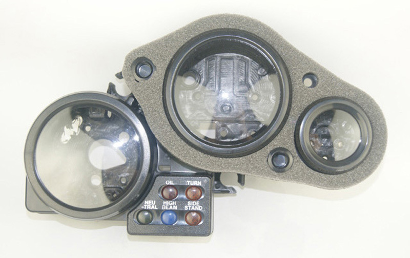 Motorcycle Parts Speedo Meter Gauge Tachometer Instrument Case Cover For HONDA VFR400 RVF400 NC35 motorcycle parts speedo meter gauge tachometer instrument case cover for 2003 2004 2005 2006 honda cbr600rr cbr 600 rr